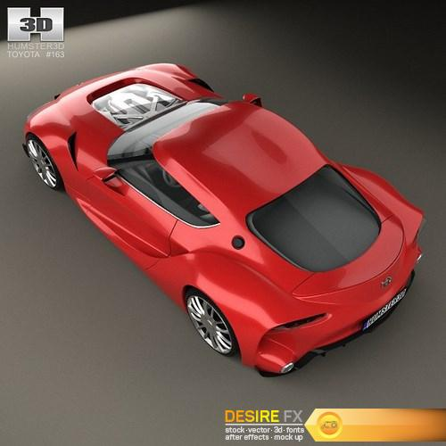 Toyota FT-1 2014 3D Model