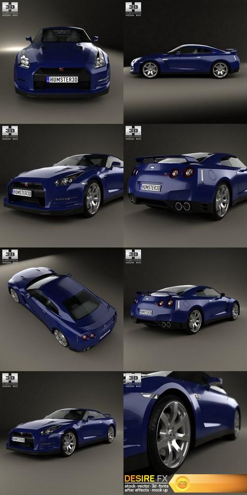 Nissan GT-R (R35) 2013 3D Model