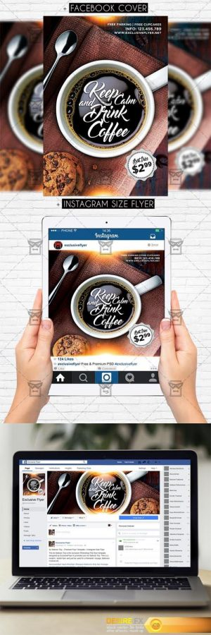 PSD Template – Keep Calm and Drink Coffee