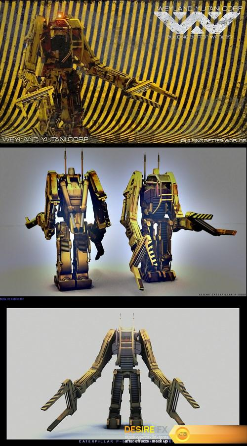 Aliens P5000 Powerloader 3D Model