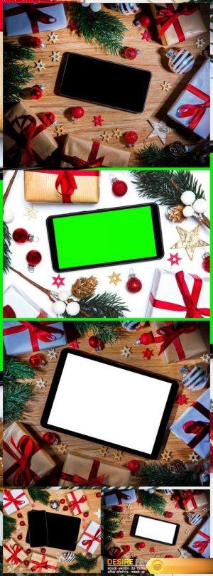 Christmas background gift and decoration 5X JPEG