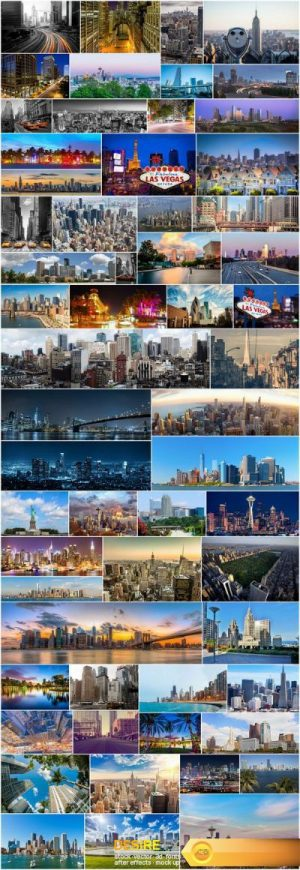 American cities and architecture – 60xUHQ JPEG