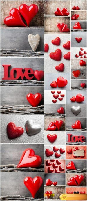 Valentines Day background with hearts 35X JPEG