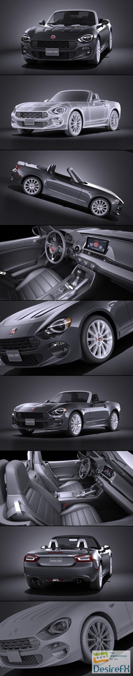 3d-models - Fiat 124 Spider 2017 VRAY 3D Model