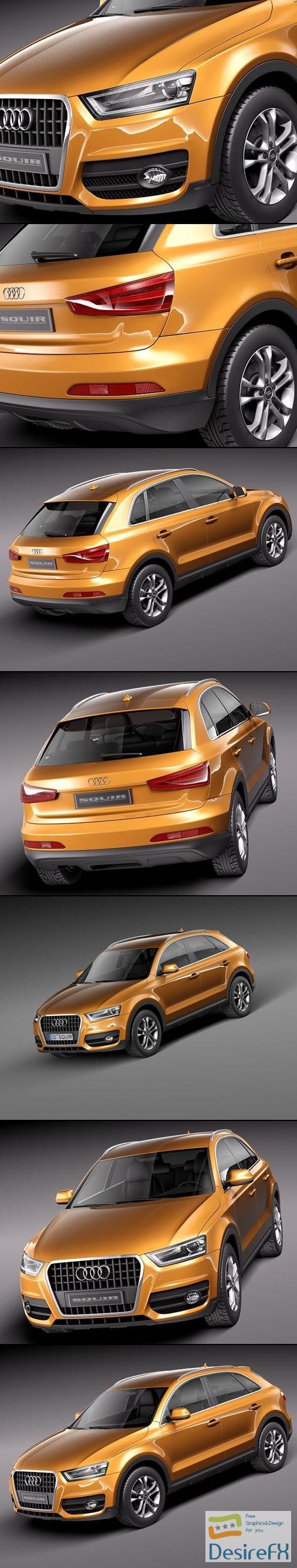 3d-models - Audi Q3 2012 3D Model