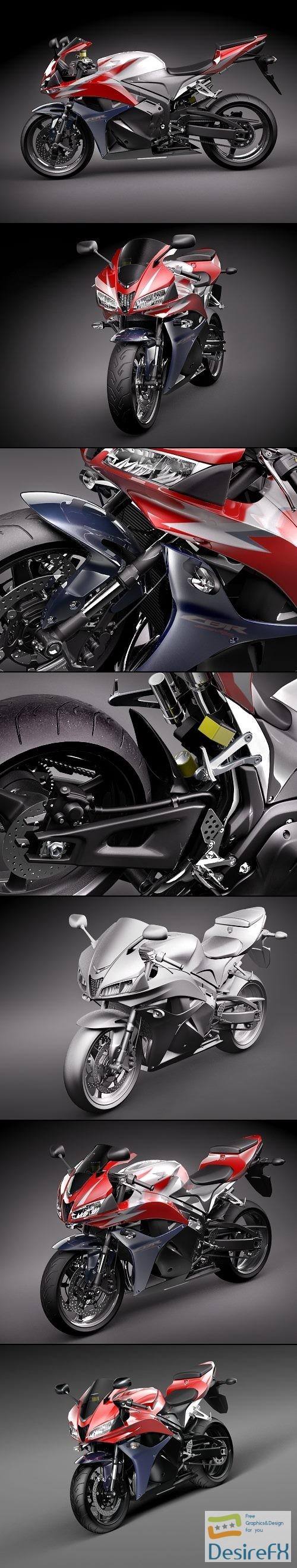 Honda CBR 600RR 2009 3D Model