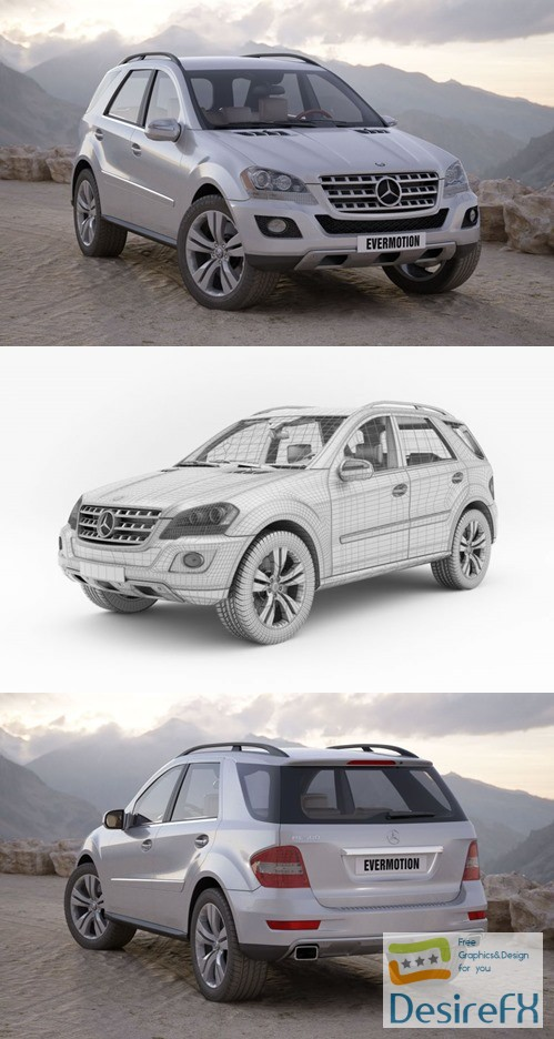 3d-models - MERCEDES-BENZ ML 500 EVERMOTION 3D MODEL