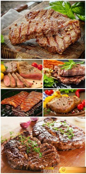 Delicious meat dishes, grilled meat