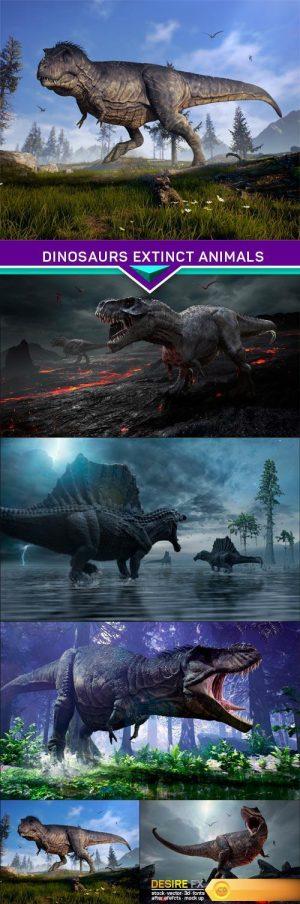 Dinosaurs extinct animals 5X JPEG