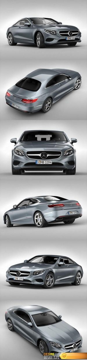 Mercedes Benz S Class Coupe 2015 3D Model