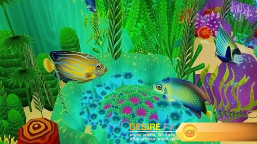 Coral Forest – Seaweed Valley VR  AR  low-poly 3D Model