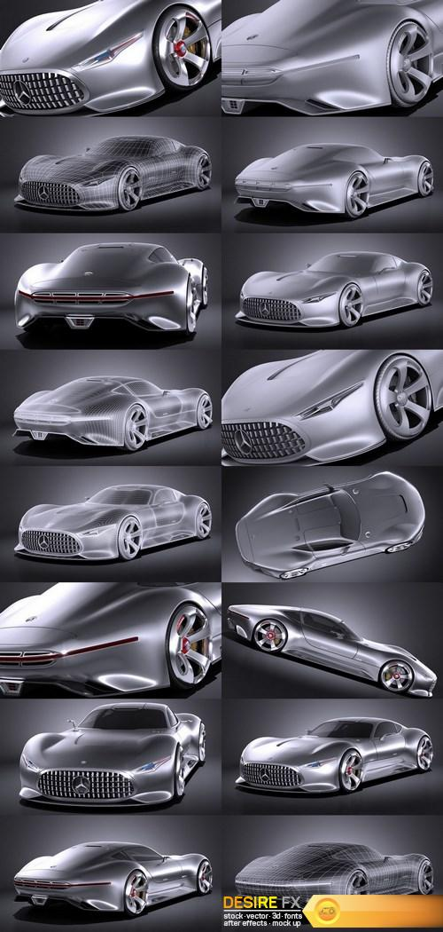 Mercedes Vision Gran Turismo Concept 3D Model