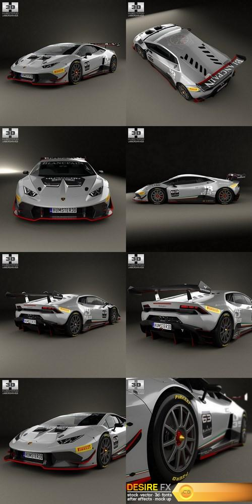 Lamborghini Huracan Trofeo 2014 3D Model