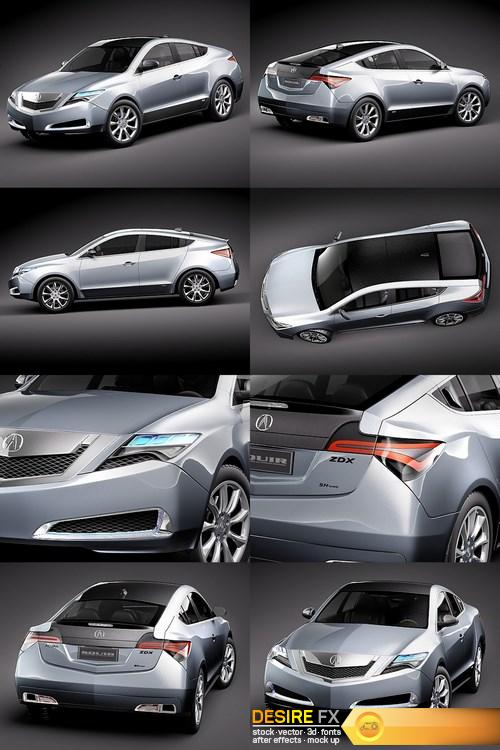 3d-models - Acura ZDX 2010 Concept Car 3D Model