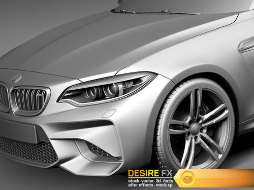 BMW M2 Coupe 2016 3D Model