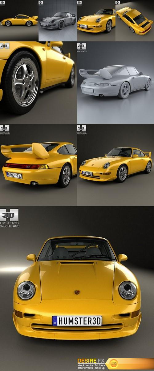 Porsche 911 Carrera Clubsport 1995 3D Model