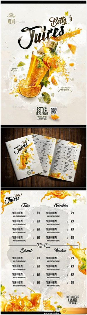 Graphicriver 19809289 fruit juice menu
