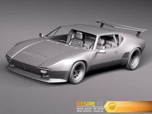De Tomaso Pantera GTS 1971–1991 3D Model