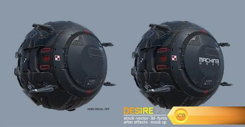Machin 3D Asset The Probe