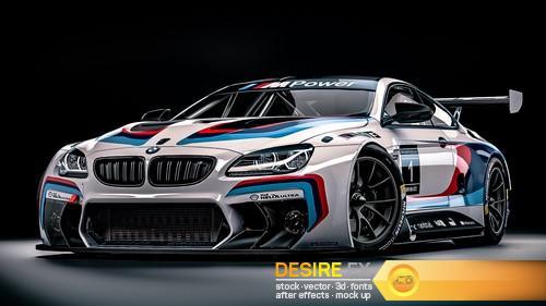 BMW M6 GT3 2016 3D Model