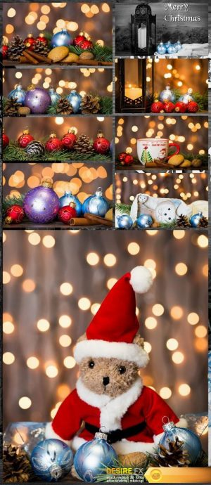 Christmas background with balls 9X JPEG