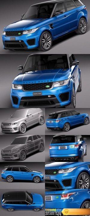 Land Rover Range Rover Sport SVR 2015 3D Model