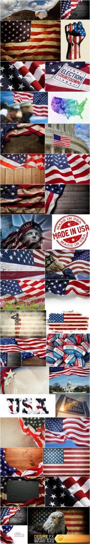 U.S. Style – American Patriot, Set of 39xUHQ JPEG Professional Stock Images