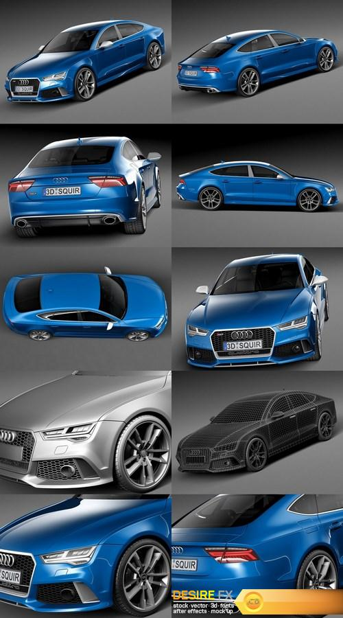 3d-models - Audi RS7 Sportback Performance 2016 3D Model