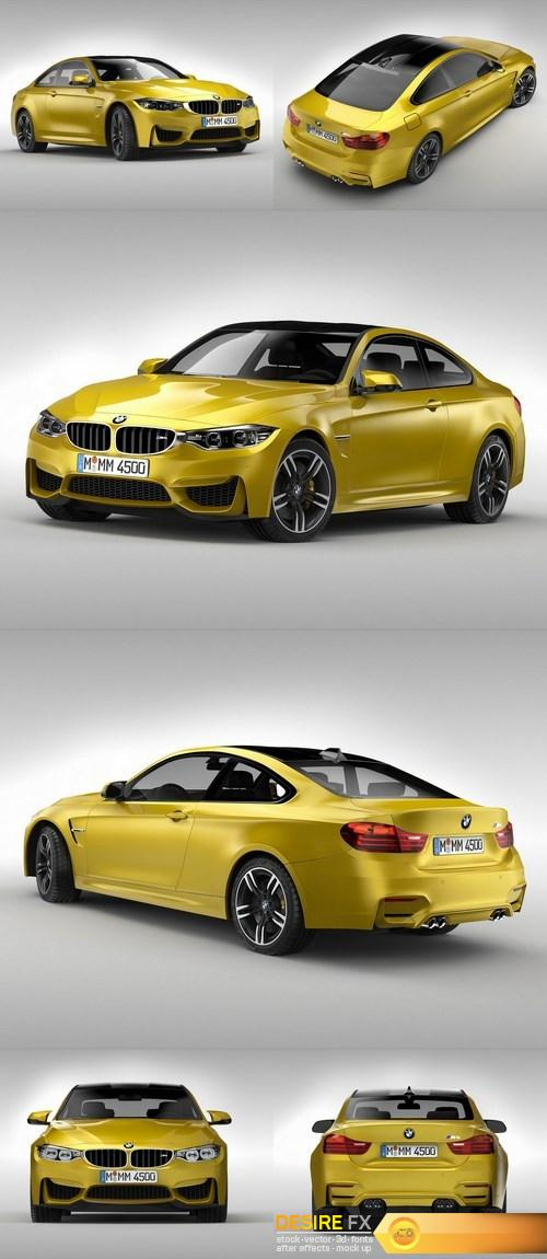 BMW M4 Coupe F82 2015 3D Model