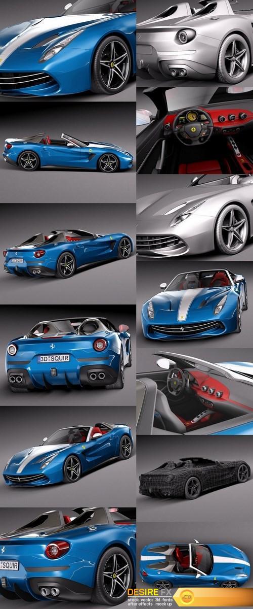 3d-models - Ferrari F60 America 2015 3D Model