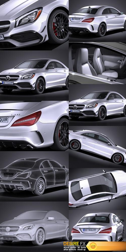 3d-models - Mercedes-Benz CLA45 AMG 2017 3D Model