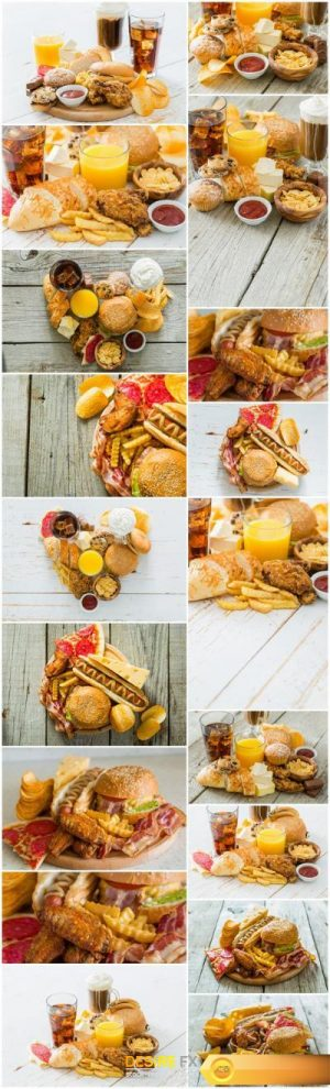 Fast Food Today – Set of 18xUHQ JPEG Professional Stock Images