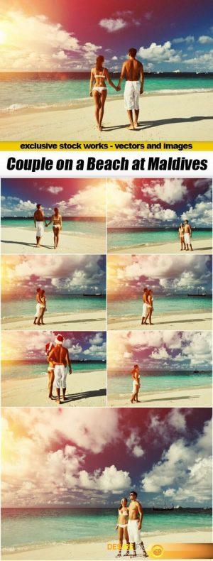 Couple on a Beach at Maldives – 8xUHQ JPEG