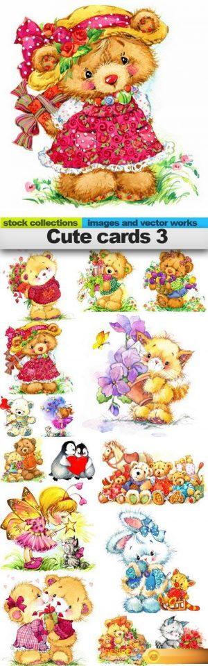 Cute cards 3, 15 x UHQ JPEG