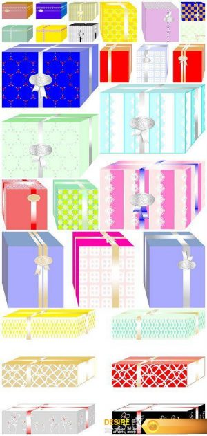 Boxes and gifts colorful 10X JPEG