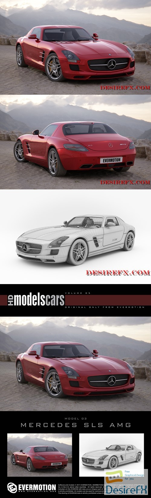 3d-models - Mercedes SLS AMG EVERMOTION 3D Model