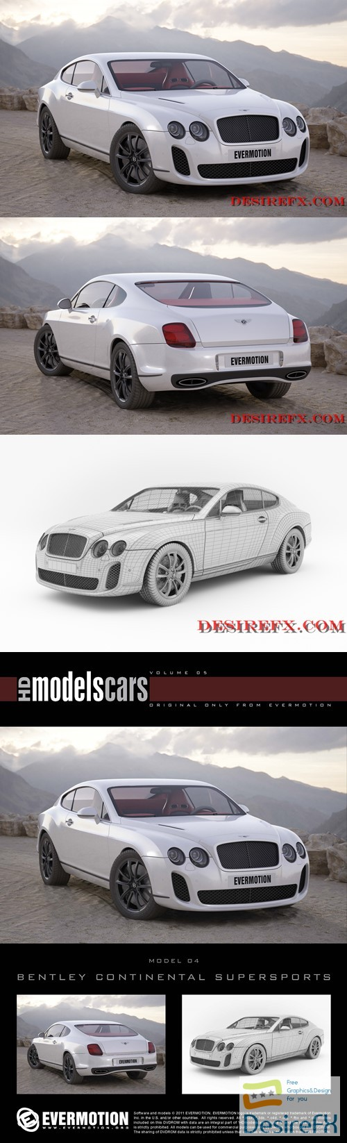 Bentley Continental Supersports EVERMOTION 3D Model