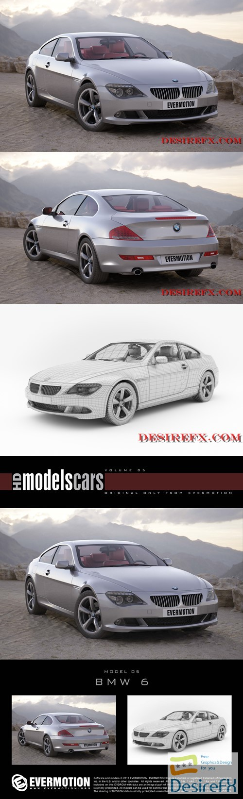 BMW 6-Series EVERMOTION 3D Model