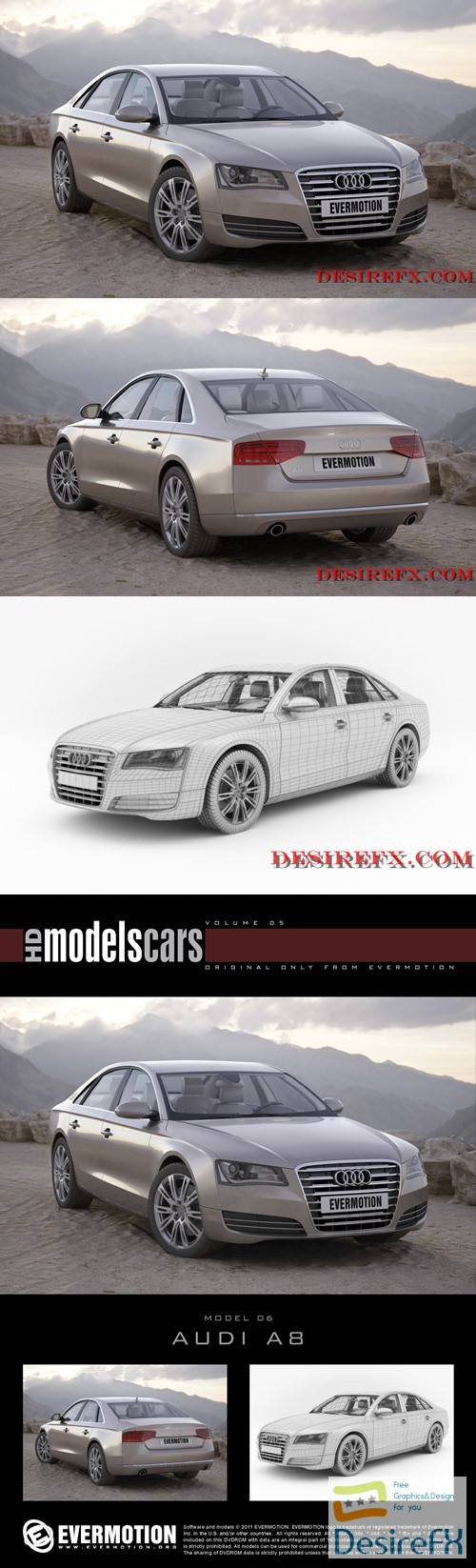 3d-models - Audi A8 EVERMOTION 3D Model