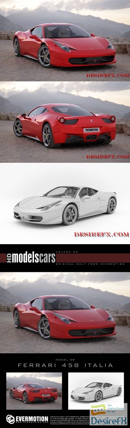 Ferrari 458 Italia EVERMOTION 3D Model