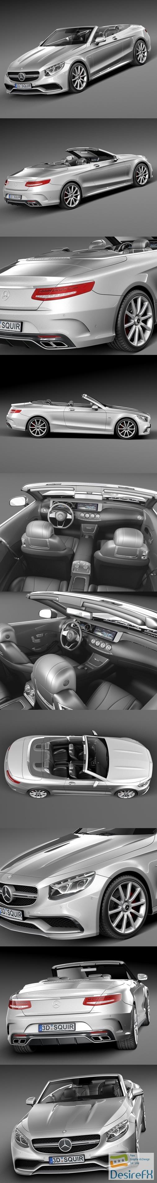 Mercedes-Benz S63 AMG Cabriolet 2017 3D Model