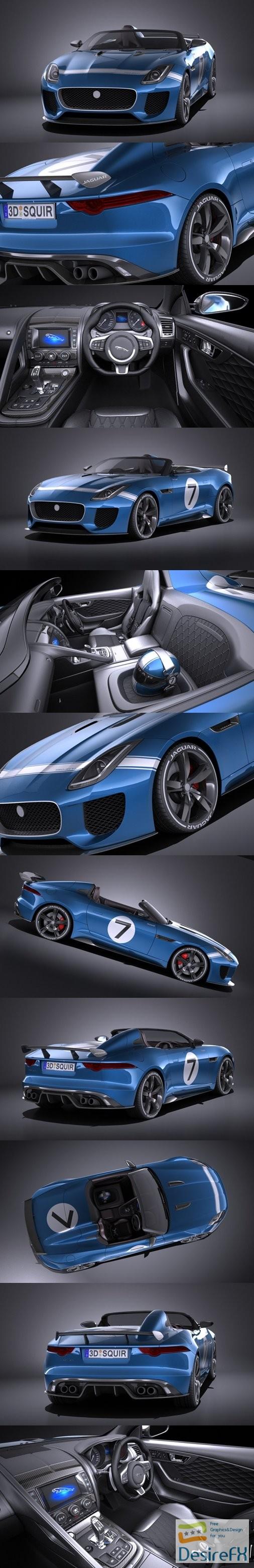 Jaguar Project 7 Concept 2016 VRAY 3D Model