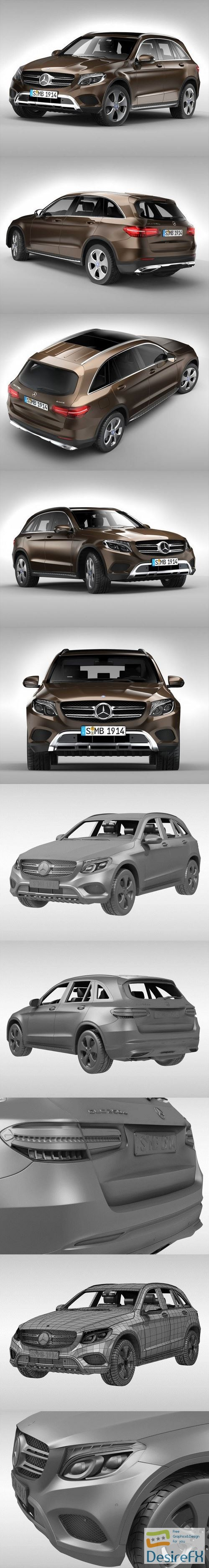 3d-models - Mercedes Benz GLC 250 4MATIC 2016 3D Model