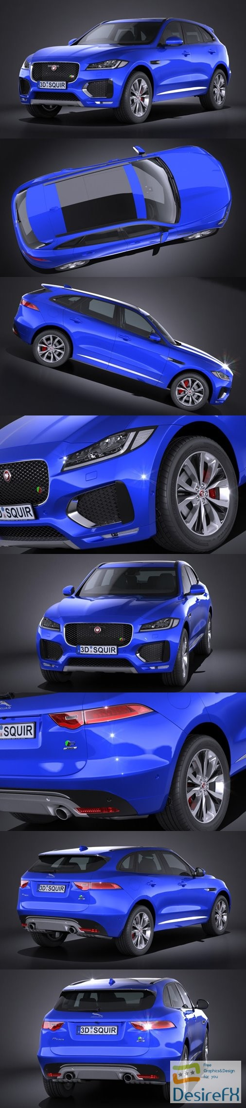 Jaguar F-Pace S 2017 3D Model
