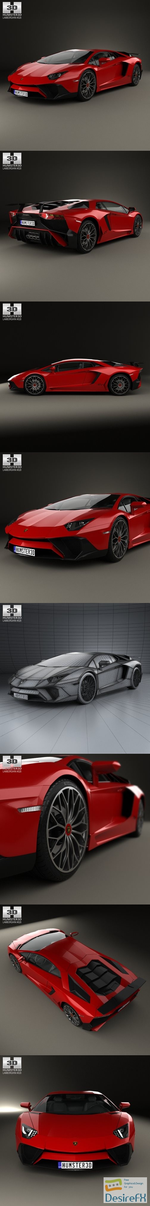 3d-models - Lamborghini Aventador LP 750-4 SuperVeloce 3D Model