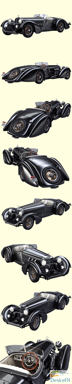 Mercedes-Benz SS Roadster 1930 3D Model