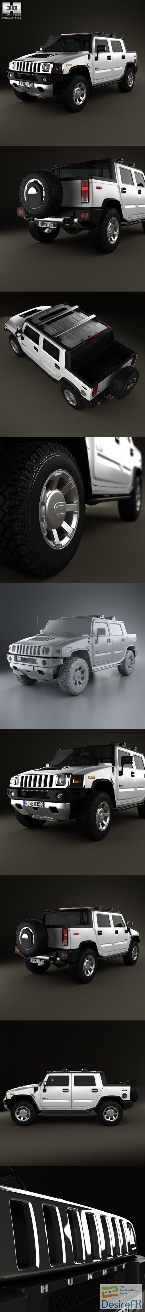3d-models - Hummer H2 SUT 2011 3D Model