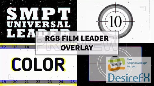 stock-video-footages - MA - RGB Film Leader Overlay 64034