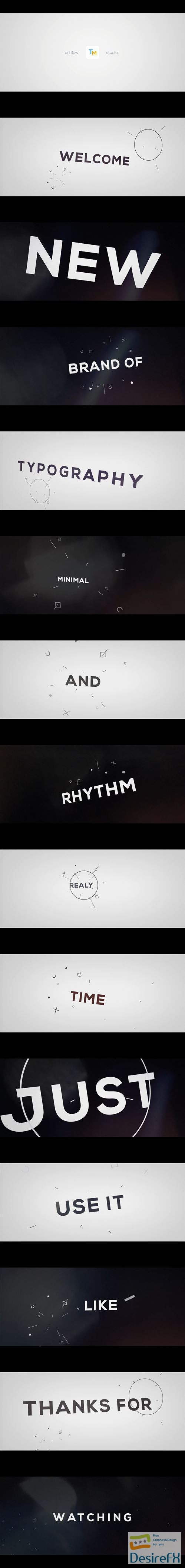after-effects-projects - Videohive 3D Rhythm Typography Intro 20487522