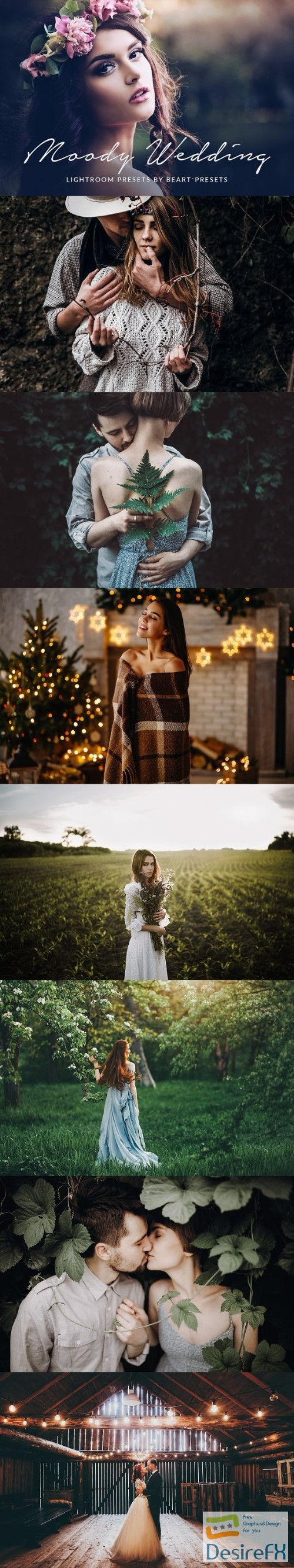 actions-atn - Moody Wedding Lightroom Presets 2290226